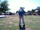 My Swing with a 6 Iron - Both Down the Line and Face On