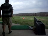driver swing at range